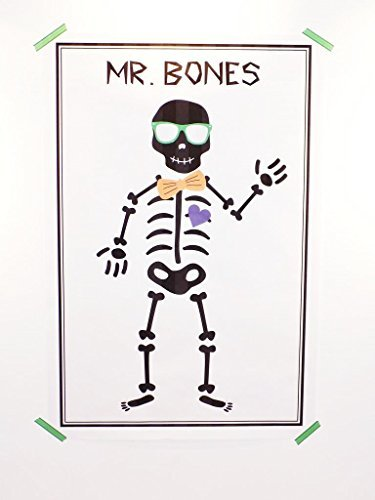 Mr Bones Halloween Party Game - Pin the Bow Tie on the Skeleton by (Halloween Bones Game)