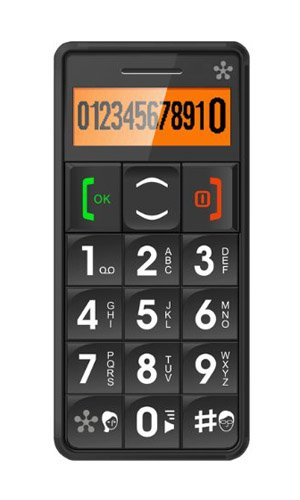 JUST5 J509 Easy to Use Unlocked Cell Phone with Big Buttons, Amplified Sound, Personal Emergency Response System (Black)