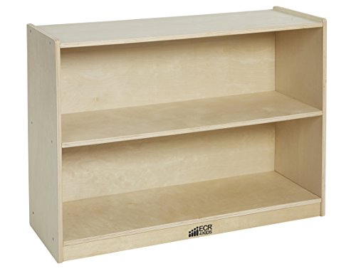 ECR4Kids Birch 2 Shelf Storage Cabinet with Back, Natural - 2 Shelf Natural Wood