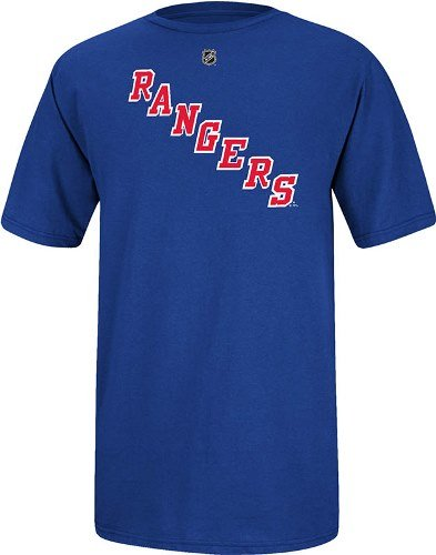 Reebok Henrik Lundqvist New York Rangers Jersey Name and Number T-Shirt XX-Large