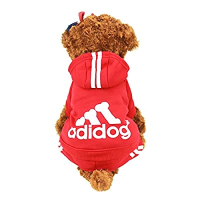 Idepet(TM) Adidog Pet Dog Cat Clothes 4 Legs Cotton Puppy Hoodies Coat Sweater Costumes Dog Jacket