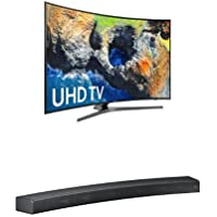 Samsung Electronics UN55MU7500 55-Inch Curved 4K Ultra HD Smart LED TV w/ HW-MS6500/ZA Premium Soundbar