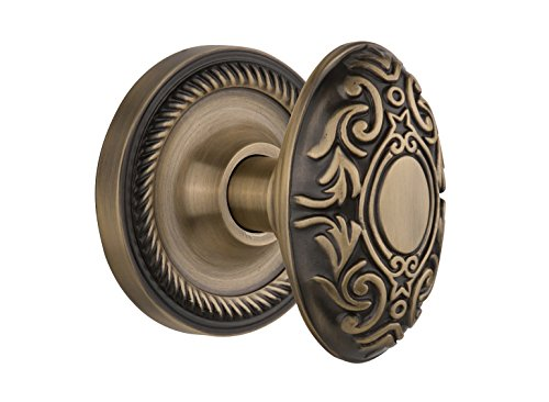 - Nostalgic Warehouse Rope Rosette with Victorian Knob, Privacy - 2.375