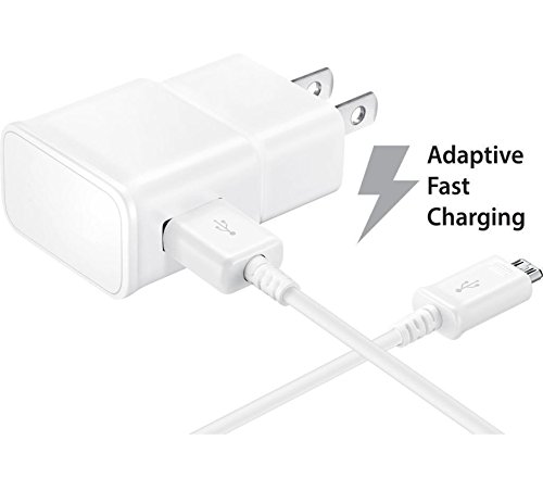 NEM Fast Charge Adaptive Fast Charger [Wall Charger + USB Cable] Compatible with Samsung Galaxy Tab S2 8.0-inch by NEM