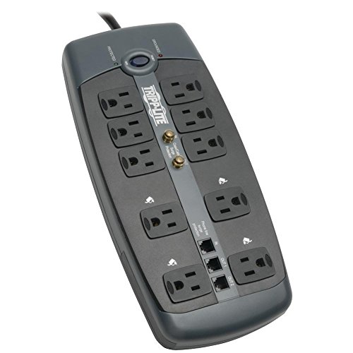Block 10 Surge Outlet (Tripp Lite TLP1008TELTV 10-OUTLET BLOCK-STYLE SURGE SUPPRESSOR WITH TELEPHONE PROTECTION (WITH COA)
