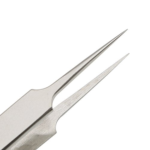 E.Durable Very Fine Tip Tweezers - Straight Tapered Extra Fine Point Professional Micro Precision Tweezers, Stainless Steel (Pack of 2) by E.Durable (Image #4)