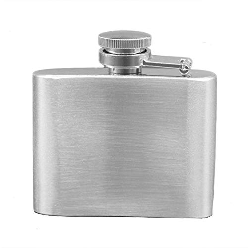 Runshiwan Mini Stainless Steel Hip Flask,2oz Mini Flagon Outdoor Drinkware Portable Stainless Steel White Portable Camping Metal Wine