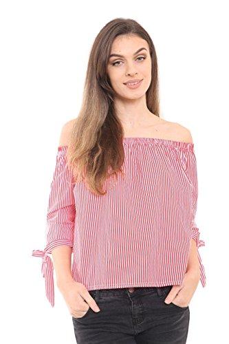 Rewatronics - Camiseta de manga larga - camisa - Manga Larga - para mujer Rosso