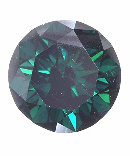 Dark Greenish Color 1.16 Carat VVS1 Clarity Loose Moissanite For Wedding Ring by Kakadiya Group