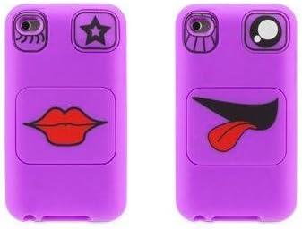 viola colore Griffin Faces-Custodia per iPod Touch 4