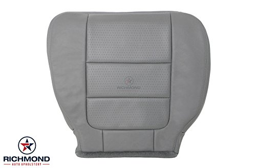 2001 - 2003 Ford F-250 F250 Lariat Ext Cab Super Cab Leather Seat Cover: Driver Bottom, Gray
