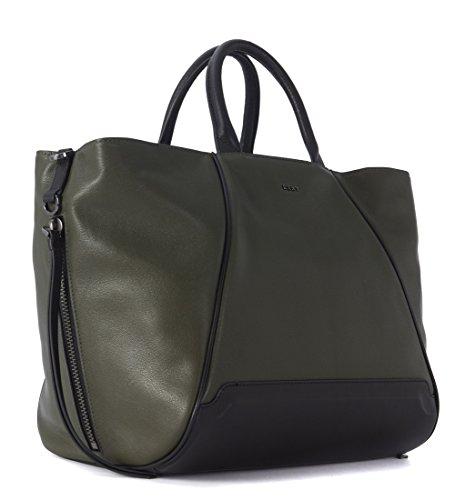 Tote bag DKNY convertible en peau noire et verte