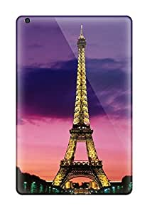 Durable Protector Case Cover With Eiffel Tower At Night Paris France Hot Design For Ipad Mini/mini 2