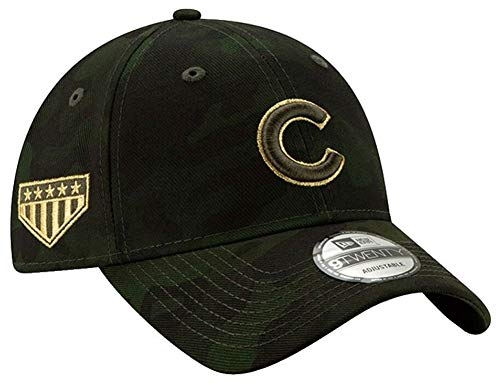New Era Chicago Cubs 2019 MLB Armed Forces Day 9TWENTY Adjustable Hat - Camo ()