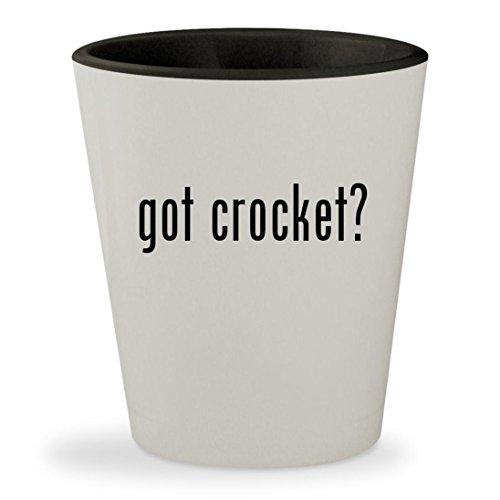 got crocket? - White Outer & Black Inner Ceramic 1.5oz Shot (Davey Jones Bar)