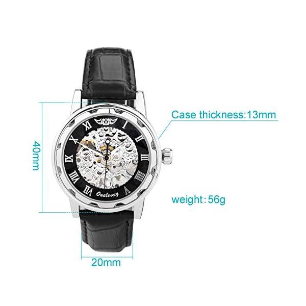 Men's Steampunk Skeleton Mechanical Watch 5
