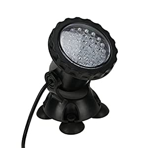 MUCH Waterproof IP68 Underwater Light 3.5W 36LED Color Changing Spot Light for Aquarium Garden Pond Pool Tank Black