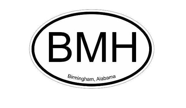 Amazon com bmh birmingham alabama oval vinyl decal sticker automotive
