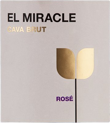 Vicente Gandia El Miracle Brut Rosado Cava, Sparkling Spanish Wine 750ml
