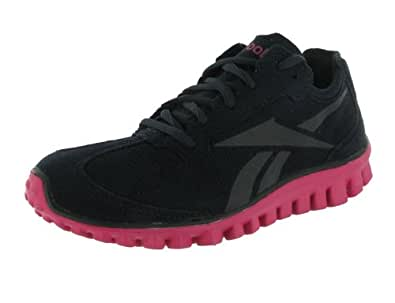 Reebok - Realflex Run Syn Womens Shoes In Black/Pink/Silver, Size: 8.5 B(M) US, Color: Black/Pink/Silver