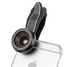 iPhone Lens, Fuleadture 15X Macro Lens with No Distortion, Clip-On Cell Phone Camera Lenses for iPhone 7, Samsung and Other Smartphones