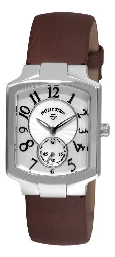 Philip Stein Signature Classic Tank Ladies Brown Strap Watch 21-FMOP-CBR