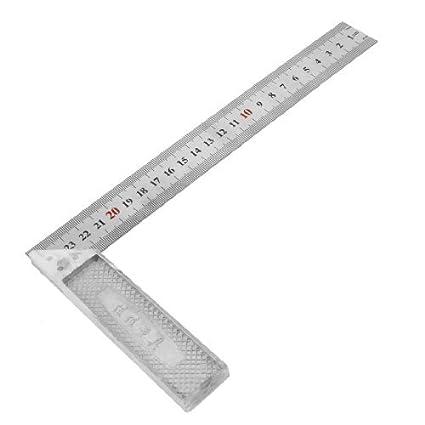 eDealMax ángulo de 90 grados inoxidable regla cuadrada, 25cm ...