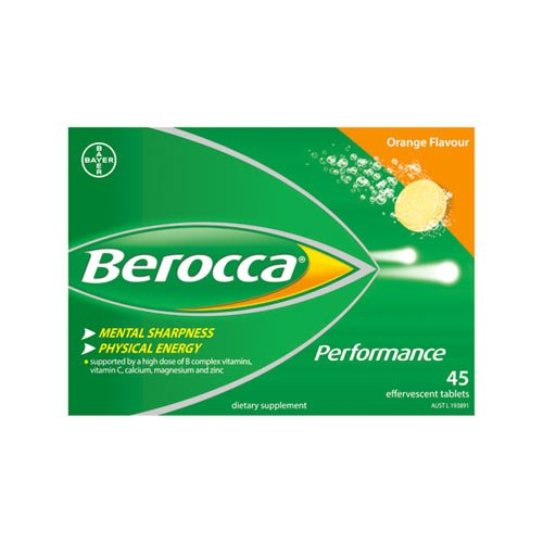 Berocca Orange Effervescent Tablets 15-Count (Pack of 3) by Bayer