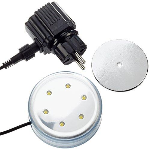 Steinbach Poolbeleuchtung LED Beleuchtung für Aufstellpools, Transparent, Ø 87 mm