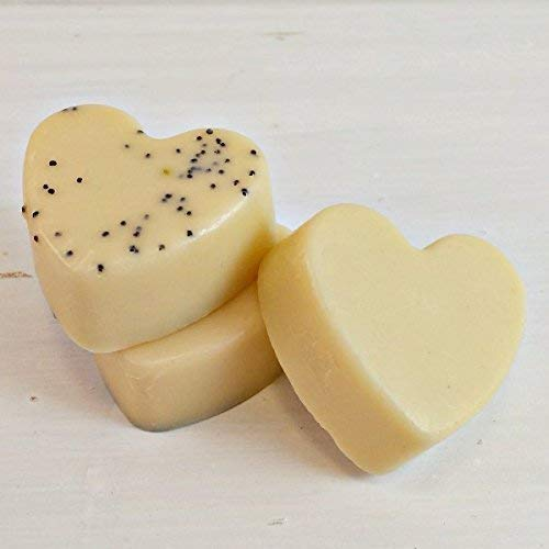 lemon soaps for bridal showers | lemon soap bridal shower favor | soap hearts | vegan soap for party favors | vegan soap party favors