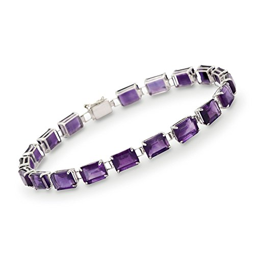 Ross-Simons 16.00 ct. t.w. Amethyst Bracelet in 14kt White Gold -
