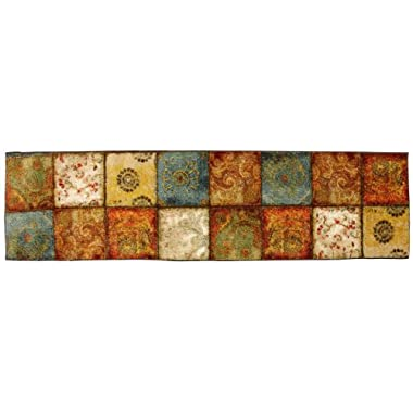 Mohawk Home Free Flow Artifact Panel Printed Rug,  2'x8',  Multi