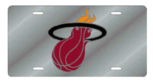 Rico Industries NBA Miami Heat Laser Inlaid Metal License Plate Tag by Rico Industries