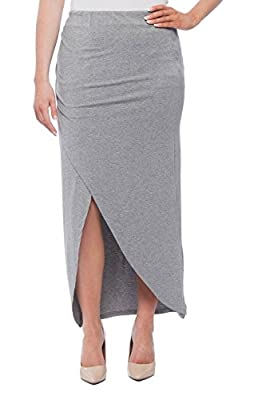 New York & Company Women's Wrap Style Maxi Skirt