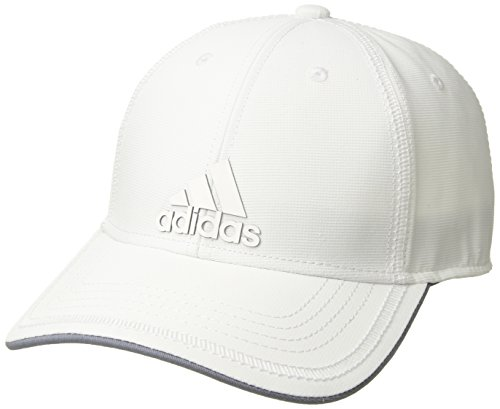 (adidas Men's Contract Structured Adjustable Cap, White/Grey, One Size)