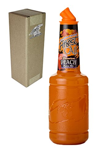 Finest Call Premium Peach Fruit Puree Drink Mix, 1 Liter Bottle (33.8 Fl Oz)