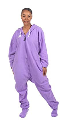 7fa962eb7 Amazon.com  Forever Lazy Footed Adult Onesies