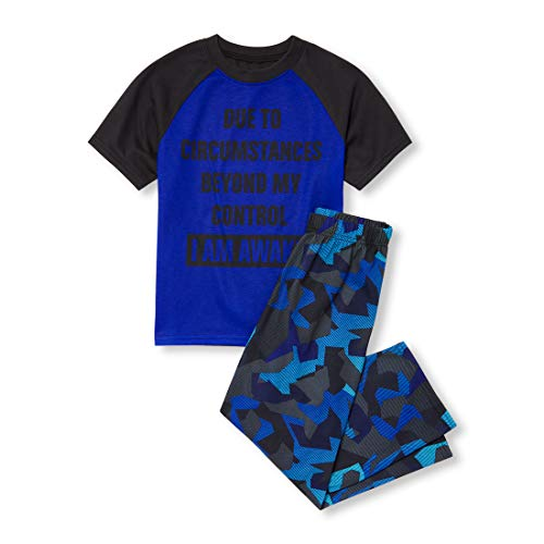 The Children's Place Big Boys' Novelty Printed Pants Pajama Set, Edge Blue, XS (4)]()