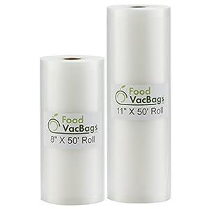 2 Foodsaver Rolls Vacuum Food Storage Bags Commercial Grade