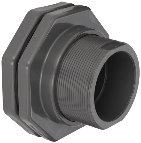 (Hayward BFA1040SES Series BFA Standard Flange Bulkhead Fitting, Socket x Socket End, PVC with EPDM Seals, 4