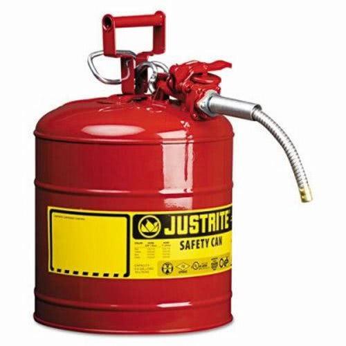 Justrite Accuflow Safety Can, Type Ii, 5Gal, Red, 5/8 Inch Hose