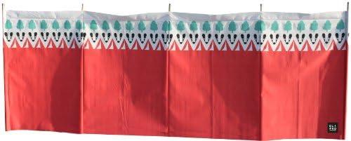 OLPro Windschutz Witley, 5 Stangen, Rot