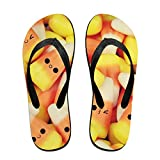 Couple Slipper Candy Bottle Shape Print Flip Flops Unisex Chic Sandals Rubber Non-Slip Beach Thong Slippers