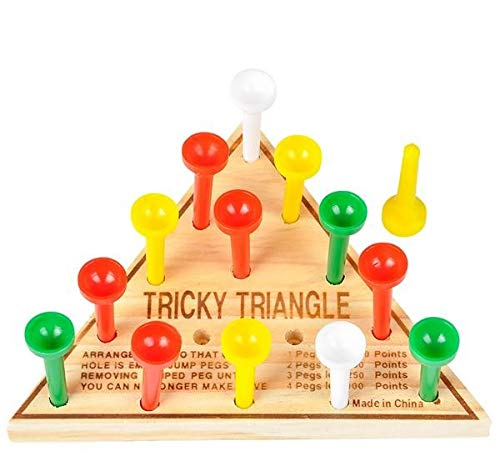 Rhode Island Novelty Board & Travel Games - Wooden Triangle Game