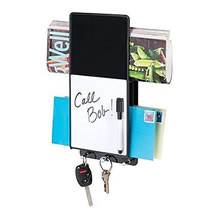 mDesign Soporte para cartas en plástico con tablero de notas ...