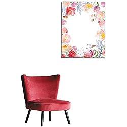 "Unprecall Mural Decoration Watercolor Roses Card Template Mural 32""x36"""