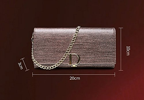 Evening Banquet Trend Fashion Bag Folder package Gray Gold Color Personalized Bag Leather Hand Light ra8wrqF