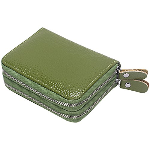Cckuu Organizer Womens Case Card Deep Blue Leather Zipper Money Soft Multi Wallet Pocket Green w4Z0qwxrd