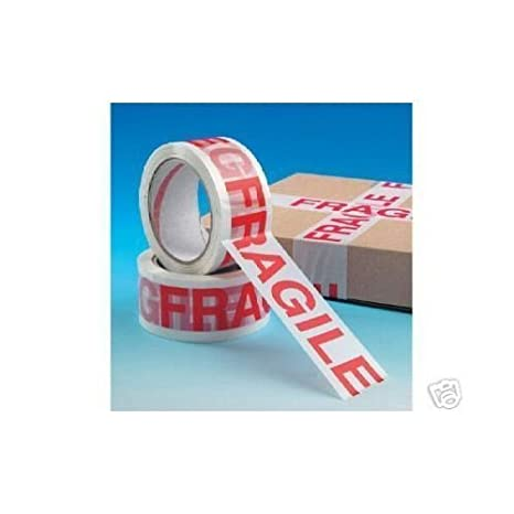 1 x ROLL FRAGILE PACKING TAPE, 66m x 50mm Speedy Packaaging