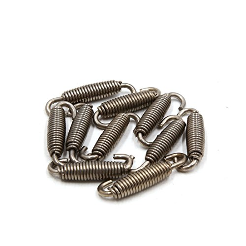 uxcell 10pcs Silver Tone Motorcycle Exhaust Pipe Silencer Muffler Springs Swivel Hooks